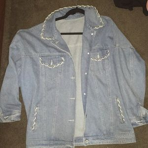 light wash, oversized jean jacket, only worn once!